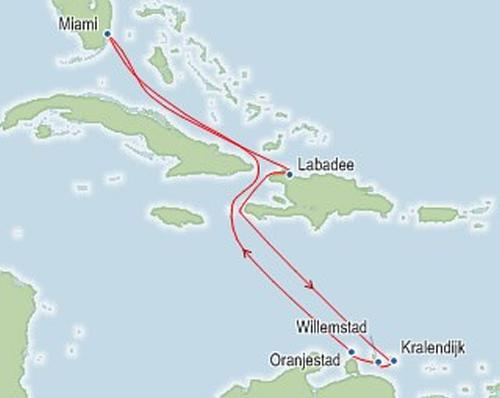 Royal Caribbean SouthernCaribbean Itinerary Map