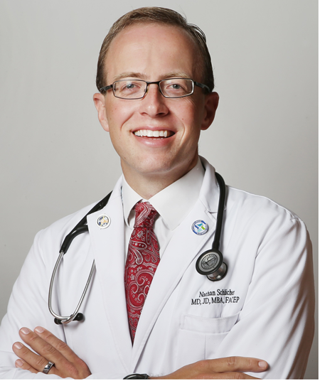 Nathaniel R Schlicher, MD, JD, MBA, FACEP