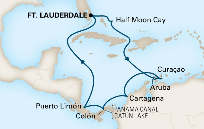 Holland America ms Zuiderman Map
