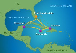 Royal Caribbean Western Caribbean Itinerary Map