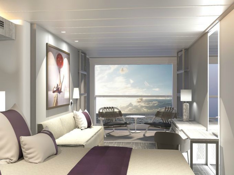 Edge Single Stateroom with Infinite Veranda , ES