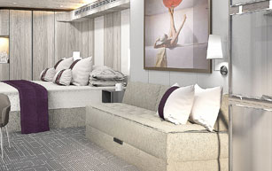 Edge Stateroom with Infinite Veranda, E4