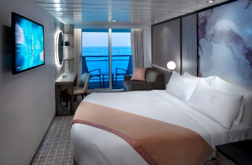 Deluxe Oceanview Stateroom with Veranda, 2A